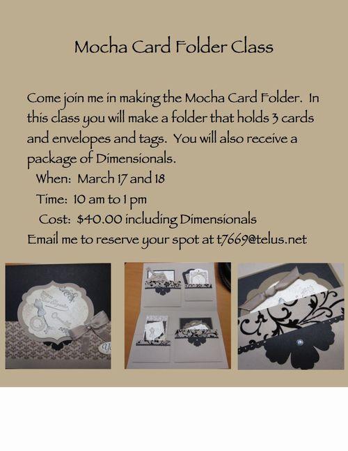 Mocha Card Folder Class-001