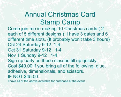 Annual Christmas Card Class-001