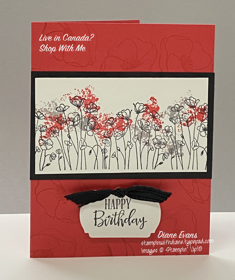Diane Evans  2 Peaceful Poppies Stampin Up