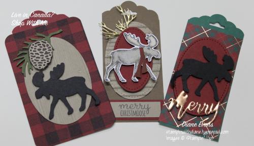Diane Evans Merry Moose Stampin' Up!®tags
