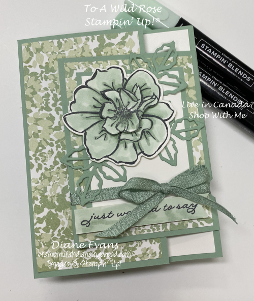 Stampin With Diane Eans To A Wild Rose Stampin' Up!