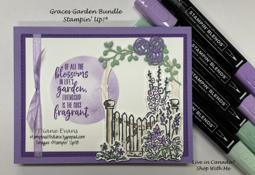 Stampin With Diane Graces Garden Stampin Up!®