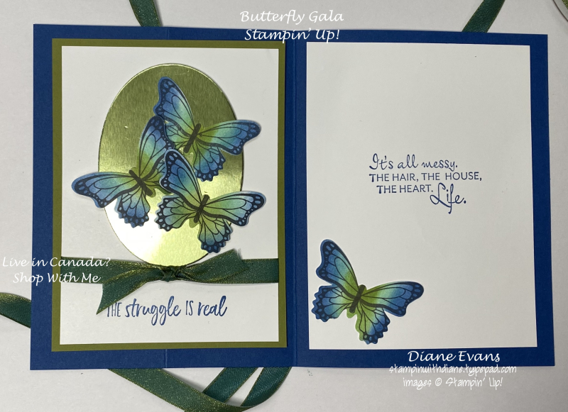 Stampin With Diane Butterfly Gala Su