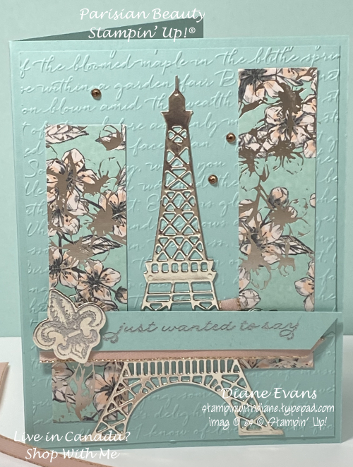 Diane Evans Parisian Beauty Stampin' Up!