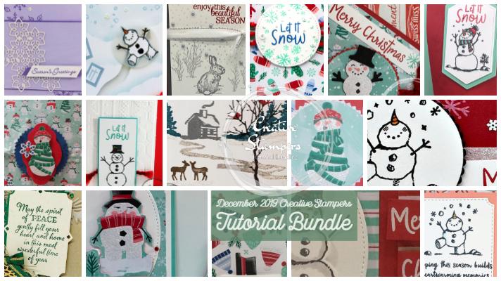 Creative Stampers December tutorial Bundle blog image