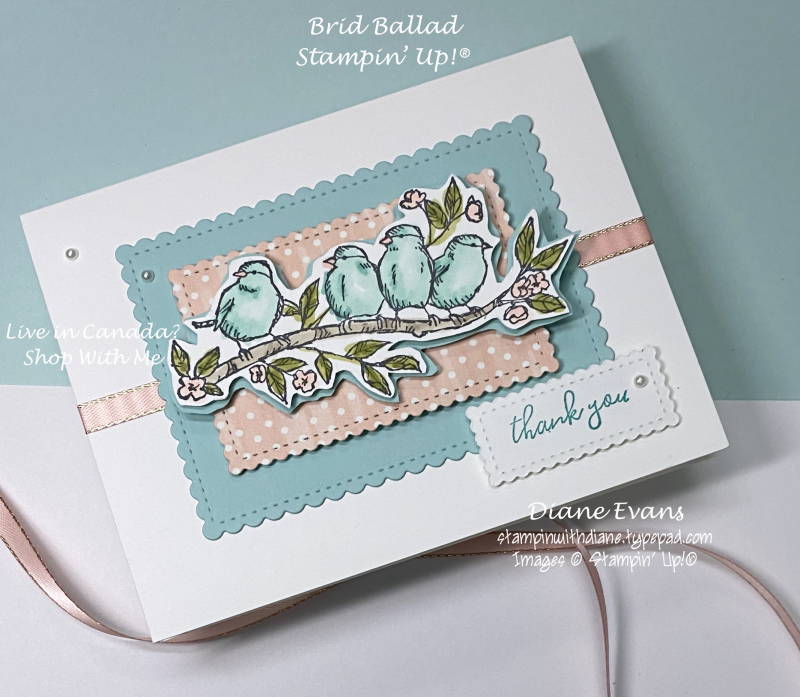 Stampin With Diane Bird Ballad Stampin Up!