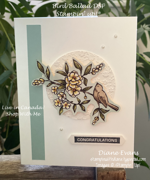 Stampin With Diane Bird Ballad DSP Su!