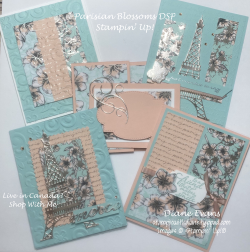 Stampin With Diane parisian Blossoms DSP SU