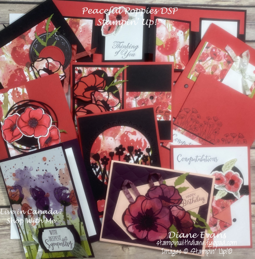 Stampin With Diane Peaceful Poppies DSP SU