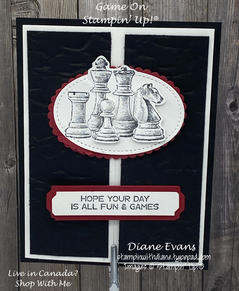 Stampin With Diane Evans Game On SU