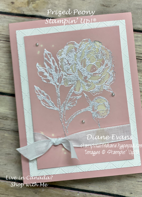 Stampin With Diane Evans Bleached prized Peony