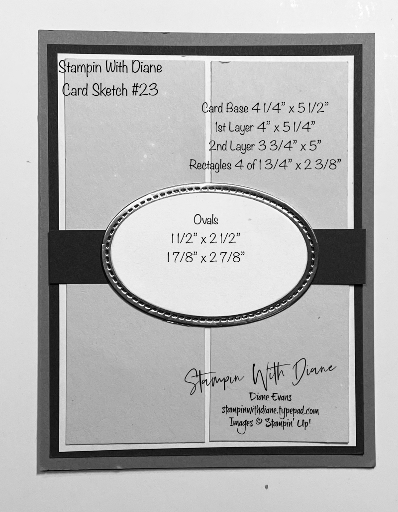Stampin With Diane Evans Card Sketch #24
