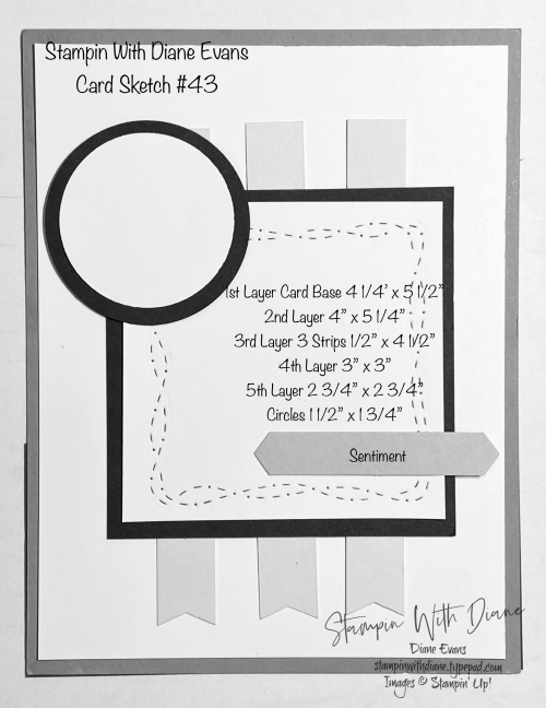 Stampin With Diane Evans Card Sketch #43