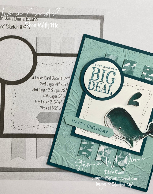 Whale Done Stampin Up! Stampin With Diane Evans