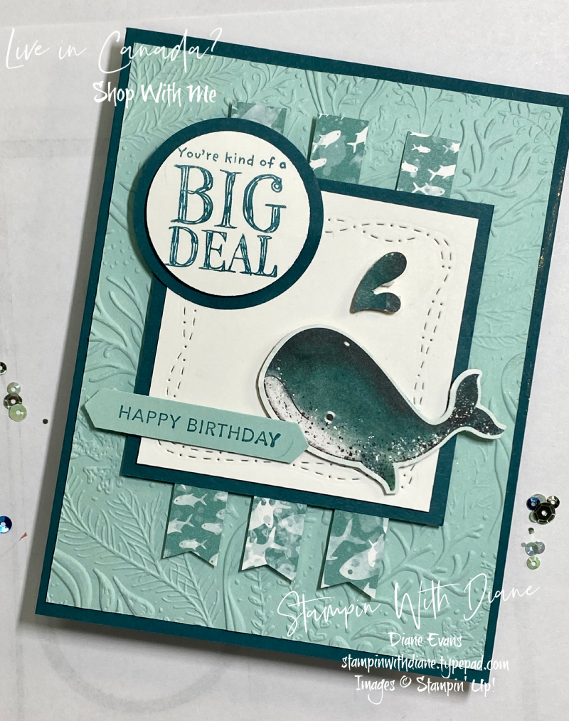 Whale Done by Stampin' Up! Stampin With Diane Evans