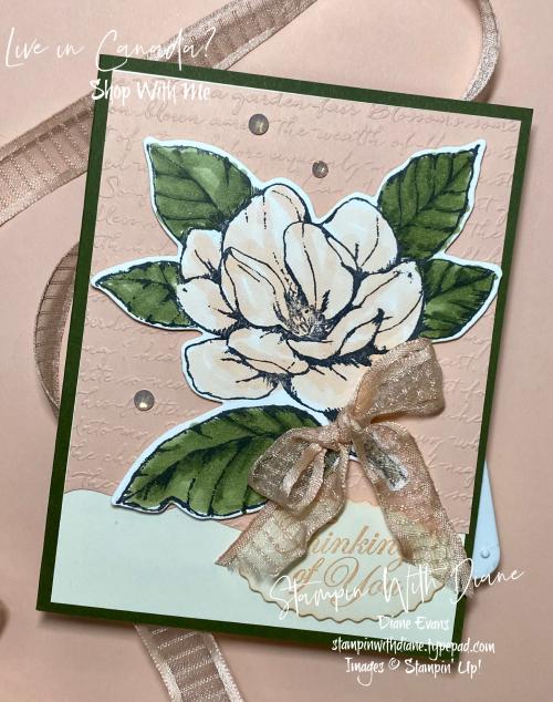 Good Morning magnolia Stampin Up Stampin With Diane Evans