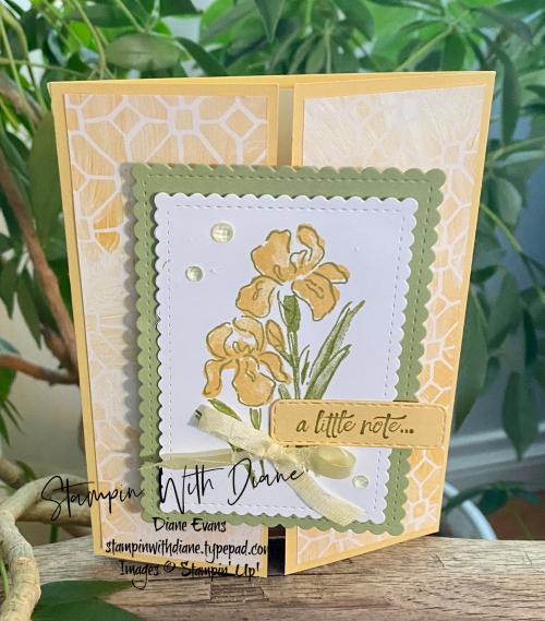 Inspiring Iris Stampin' Up! Stampin With Diane Evans