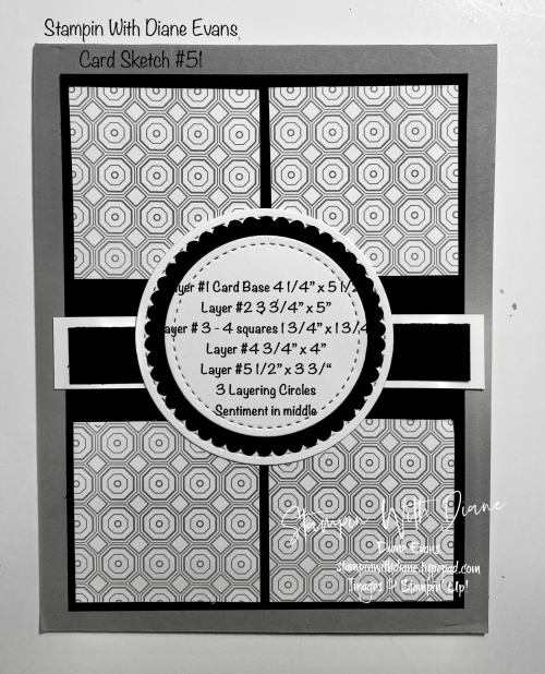 Stampin With Diane Evans Card Sketch #51