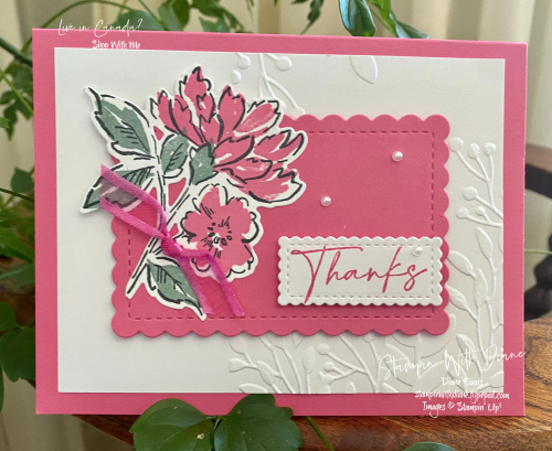 Hand Penned Thanks Stampin Up Stampin With Diane Evans