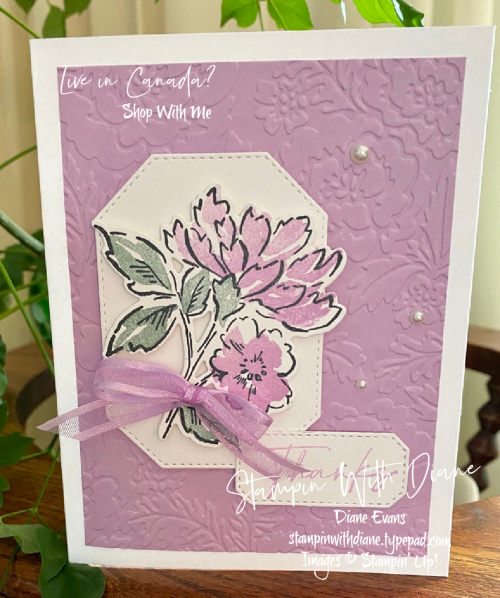 Hand Penned Thank you Stampin' Up Stampin With Diane Evans