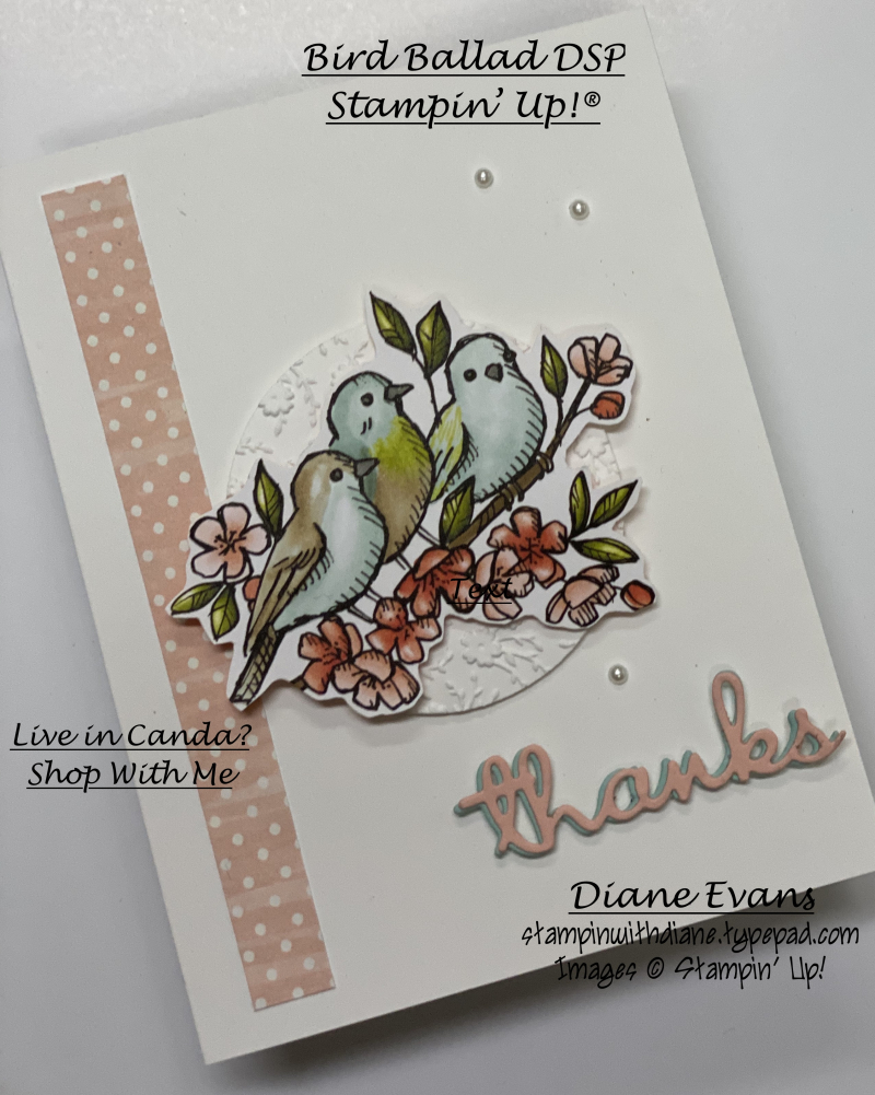 Stampin With Diane Bird Ballad SU