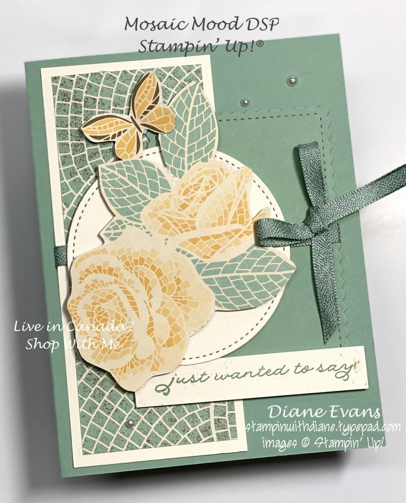 Stampin With Diane Mosiac Mood DSP SU