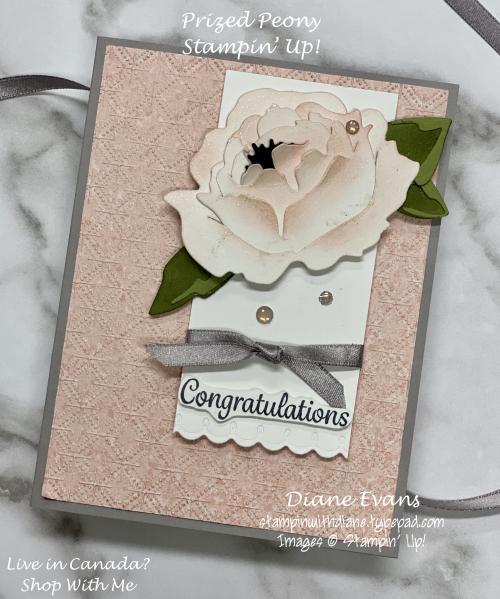 Stampin With Diane Prized Peony SU1
