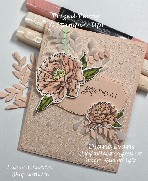 Stampin With Diane Prized Peony 2