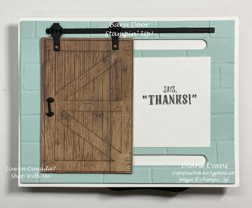 Stampin Warn door
