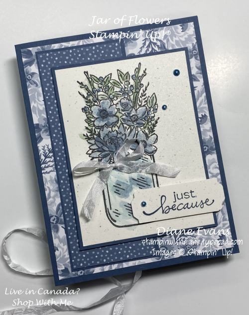 Stampin With Diane Jar of Flowers 2