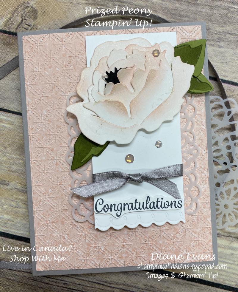 Stampin With Diane Prized Peony SU