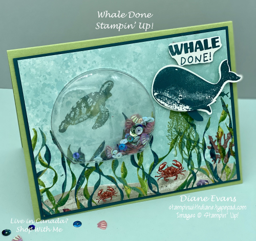 Stampin with Diane Evans Whale Done SU1