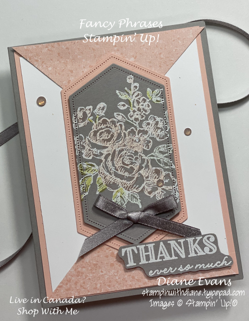 Stampin With Diane Evans Fancy Phrases Su