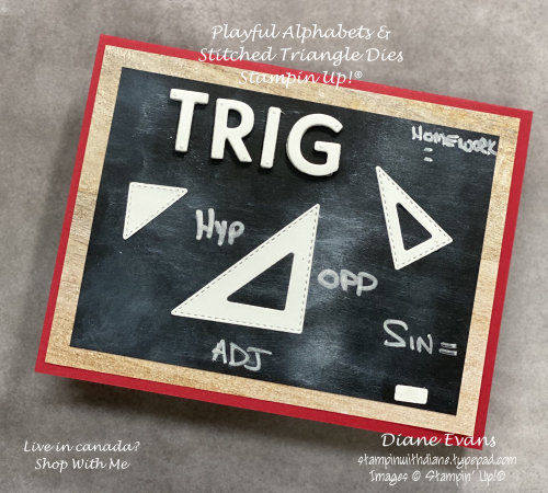 Stampin With Diane Evans Stitched Triangles