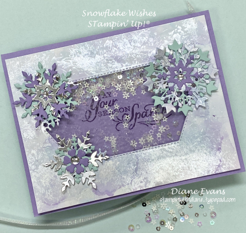 Stampin With Diane Evans Snowflake Wishes SU