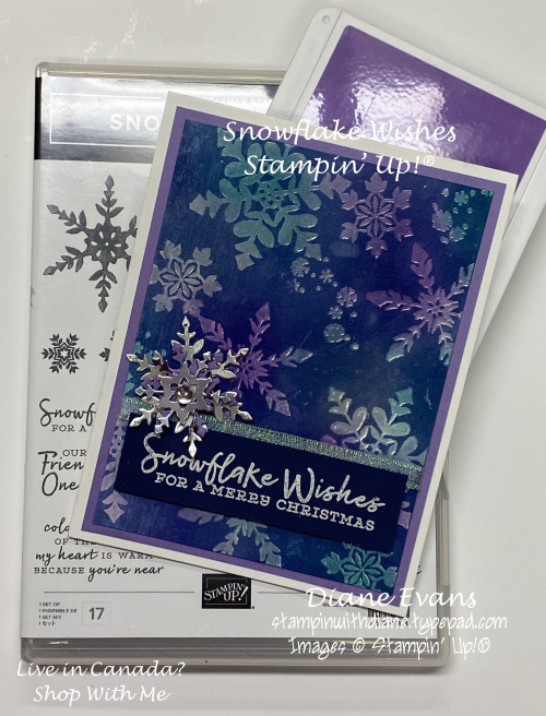Stampin With Diane Evans Snowflake Josephcoat