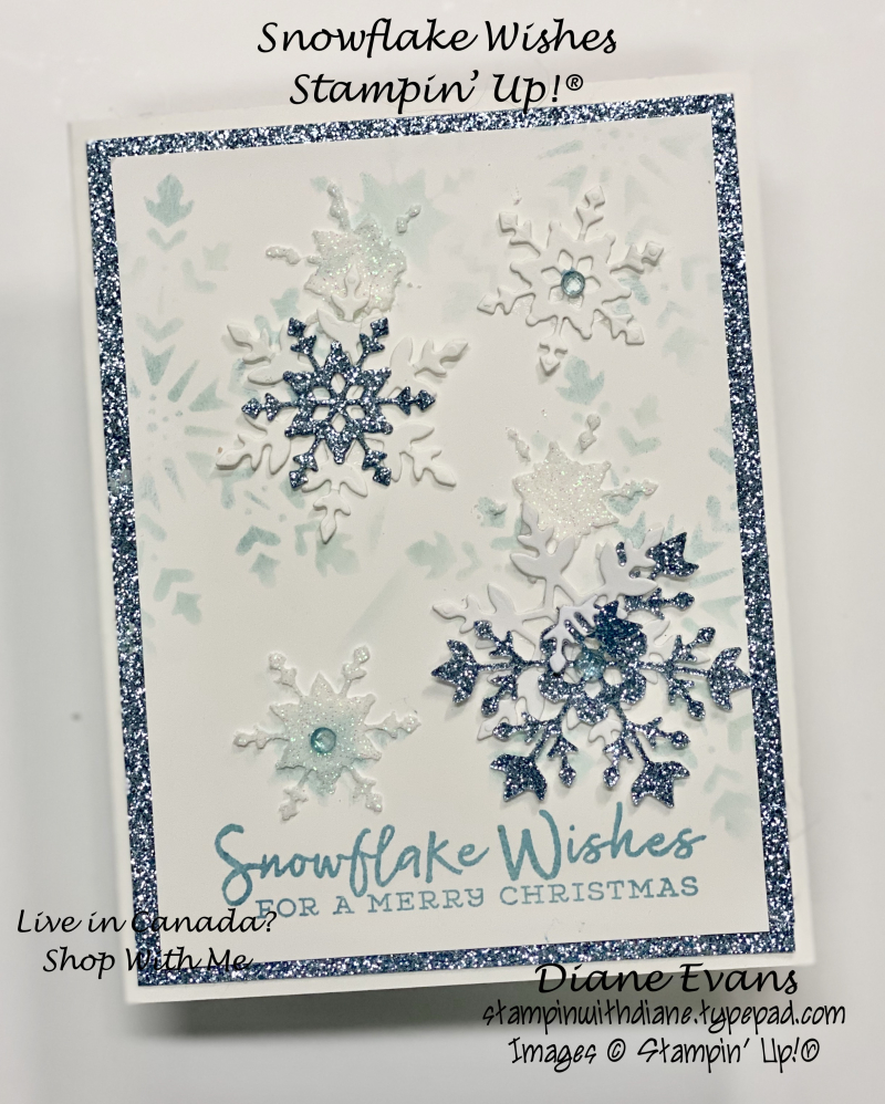 Stampin With Diane Evans Snowflake Wishes Stencilling