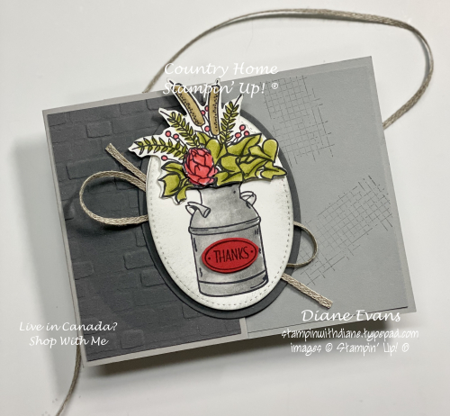 Stampin With Diane Evans country Hom SU3
