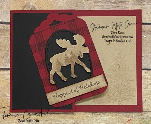 Stampin With Diane Evans Merry Moose GC