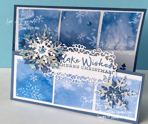 Snowflake Wishes SU Stampin With Diane Evans