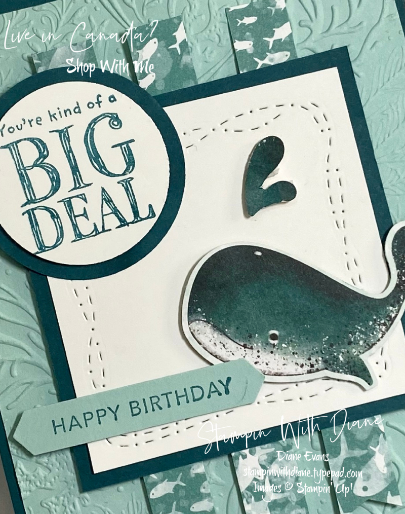 Whale Done Stampin' Up! 2 Stampin With Diane Evans