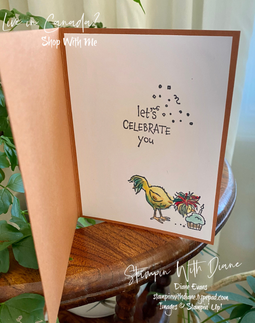 Hey Birthday Chick Stampin' Up! Stampin With Diane Evans 3