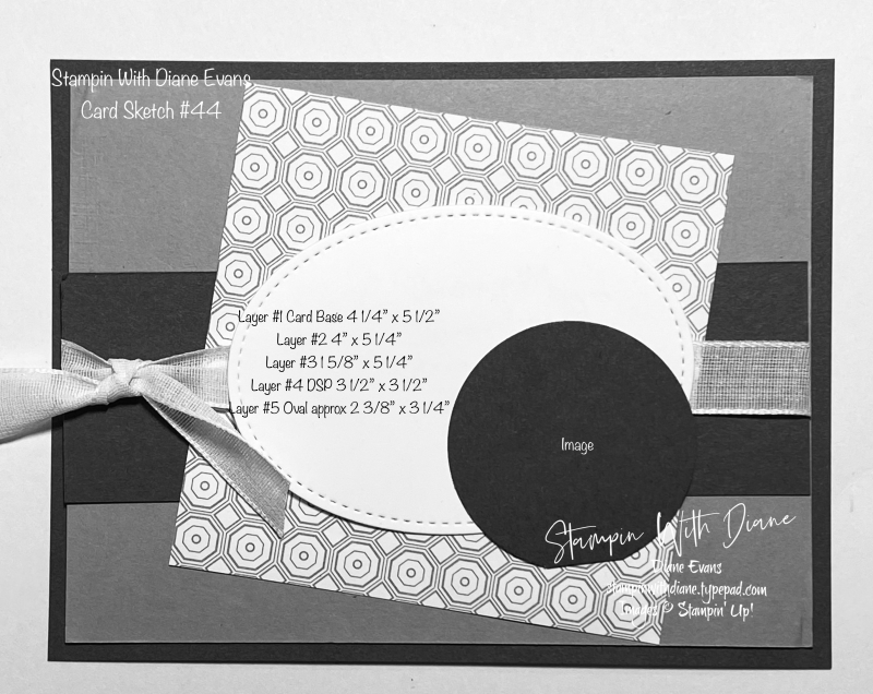 Stampin With Diane Evans Card Sketch #44