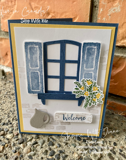 Welcoming Window Stampin' Up! Stampin With Diane Evans