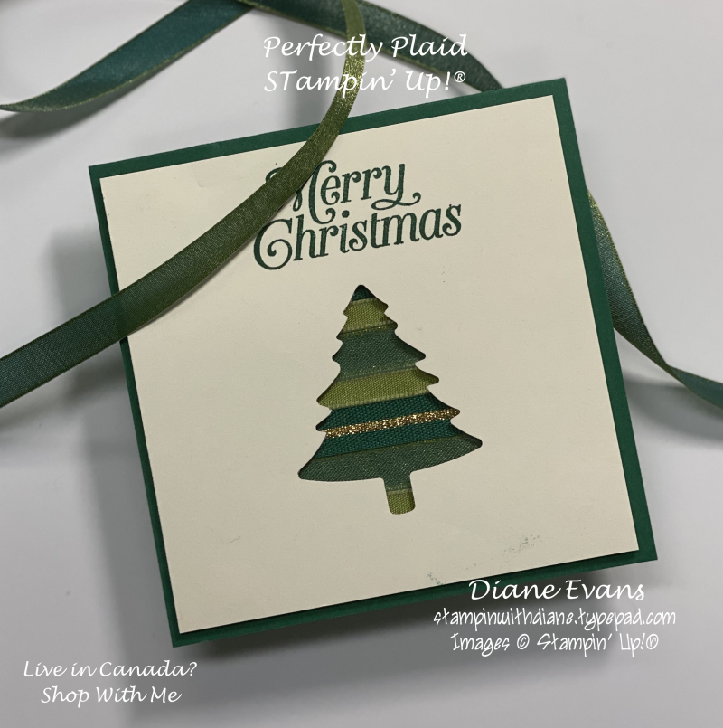Stampin With Diane Evans Perfectly Plaid Ribbon