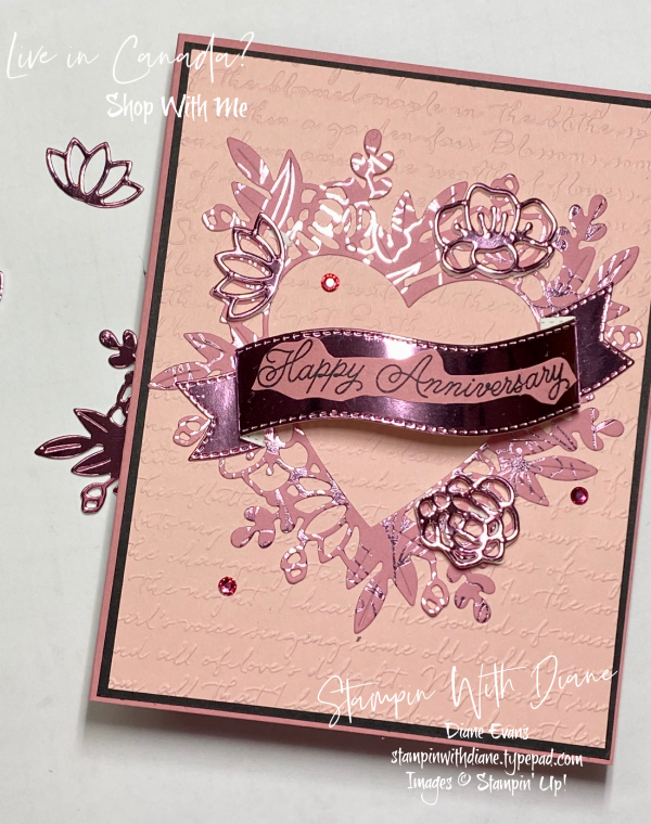 blogging friends blog hop  red hot love  stampin with diane