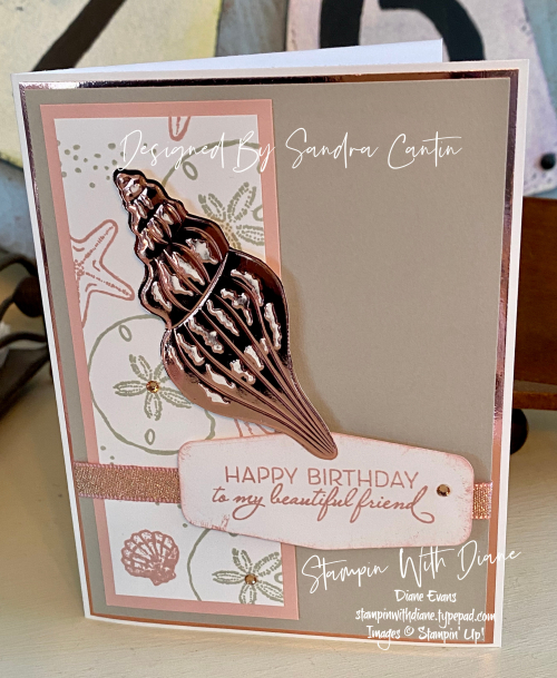 Sand and Sea 1 Stampin  Up Stampin With Diane Evans T2