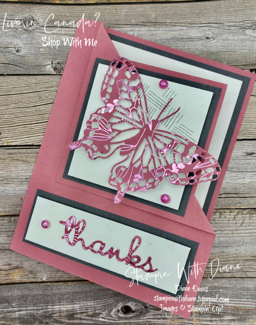 Butterfly Brilliance Stampin up Stampin With Diane Evans