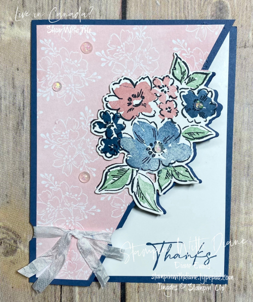 Partial Die Cutting Hand Penned Stampin Up Stampin With Diane Evans 1