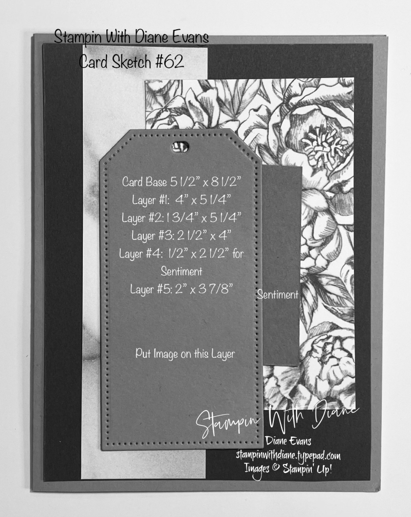 Stampin With Diane Evans Card Sketch #62